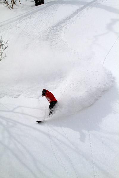 スノーボードパウダーフォト
